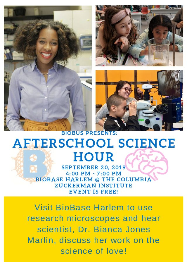 BioBus Afterschool Science Hour 9/20/2019