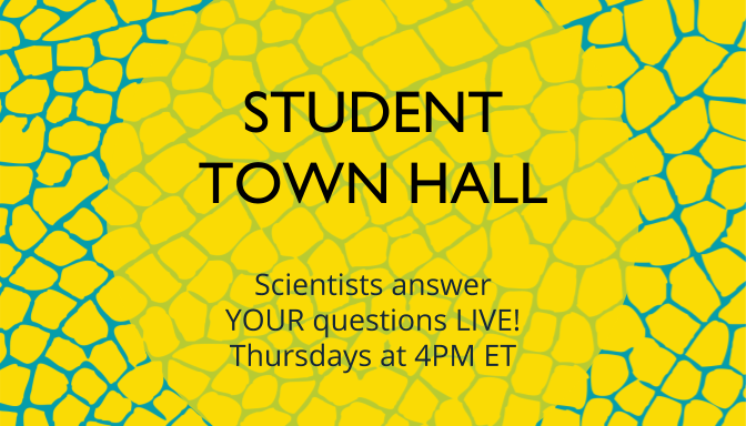 Student Town Hall - Thursdays at 4pm ET!